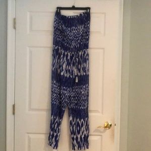 Tommy Bahama Royal Blue and White Romper
